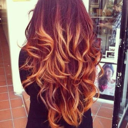 Красивое омбре на волосах